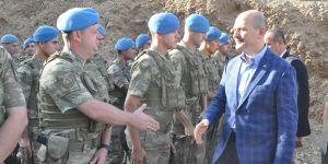 İçişleri Bakanı Süleyman Soylu, Irak sınırında