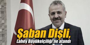 Şaban Dişli, Lahey Büyükelçiliği'ne atandı