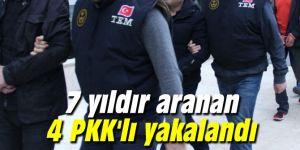 7 yıldır aranan 4 PKK'lı yakalandı