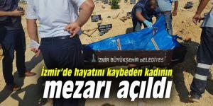 İzmir'de hayatını kaybeden kadının mezarı açıldı