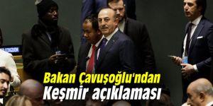 Bakan Çavuşoğlu'ndan Keşmir açıklaması