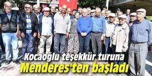 Başkan Kocaoğlu teşekkür turuna Menderes'ten başladı