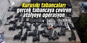 İzmir'de kurusıkı tabancaları gerçek tabancaya çeviren atölyeye operasyon