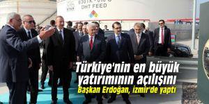 Türkiye'nin en büyük yatırımının açılışını Başkan Erdoğan, İzmir'de yaptı