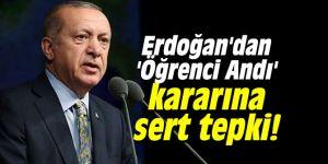 Erdoğan'dan Danıştay'ın 'Öğrenci Andı' kararına sert tepki!