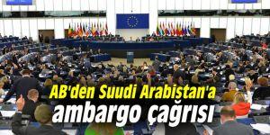 AB'den Suudi Arabistan'a ambargo çağrısı