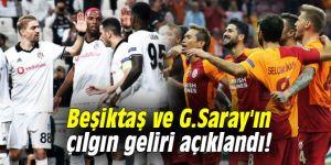 Beşiktaş ve G.Saray'ın çılgın geliri açıklandı!