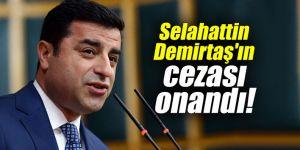Selahattin Demirtaş'ın cezası onandı!